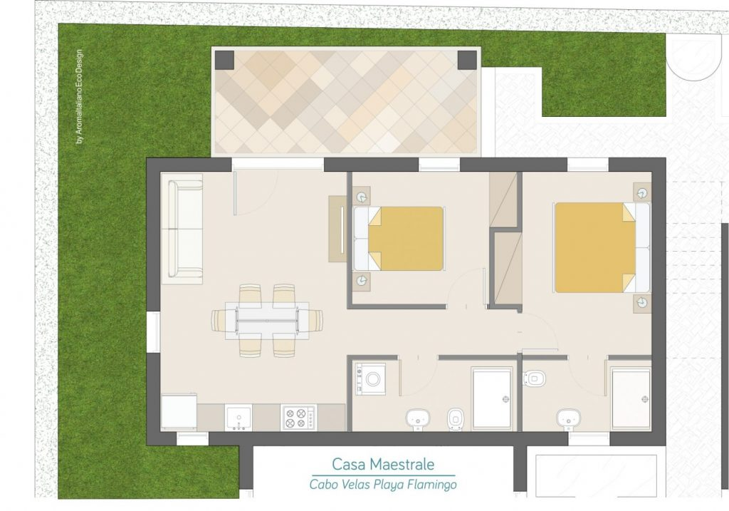 Casa Maestrale Plano - Cabo Velas - Boutique Residences Playa Flamingo