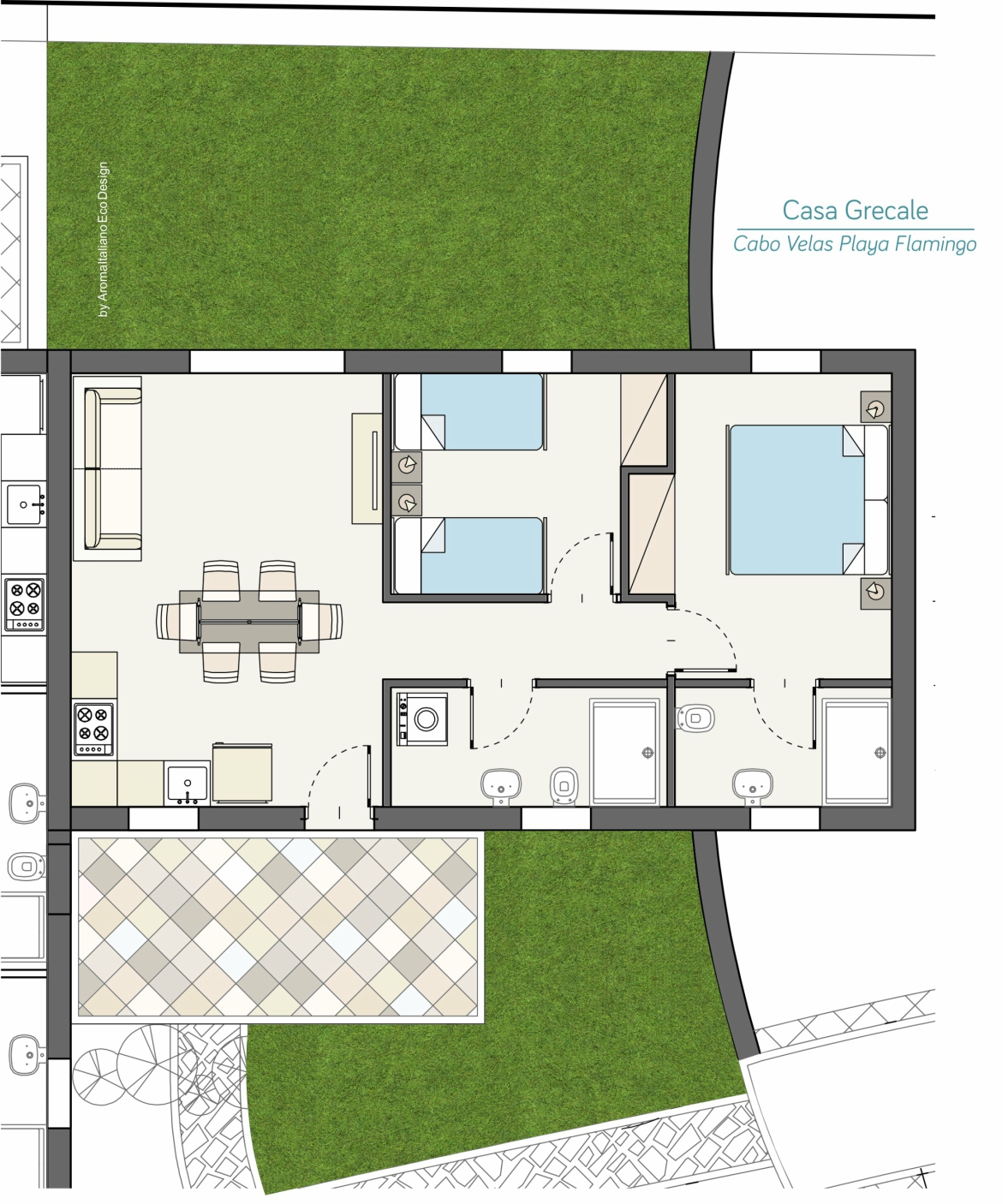 Casa Grecale - Planimetria Cabo Velas - Boutique Residences Playa Flamingo